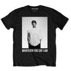 Eminem Whatever Mens Black Short Sleeve T-Shirt Hip Hop Slim Shady Rap deda3167bb0