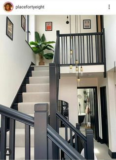 Staircase Runner, House Staircase, Staircase Remodel, Staircase Makeover, Staircase Design, Painted Staircases, Painted Stairs, Bannister Ideas Painted, Spiral Staircases