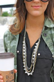 The Stella & Dot Sutton Necklace. One of my new pieces ! Wear it 5 ways!!   Been wearing this a lot this fall