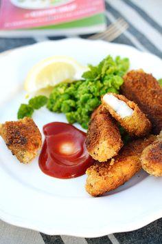 Domácí rybí prsty & šťouchaný hrášek s mátou | Homemade fish fingers & mashed pea with mint