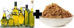 Esfoliação de azeite de oliva com açúcar mascavo - receitas caseiras para cabelos cacheados