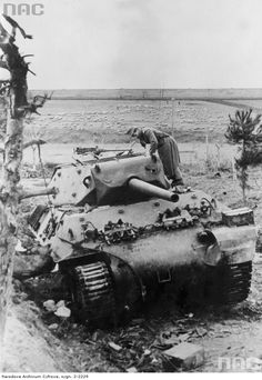 Destroyed American M-10 at Anzio 1944