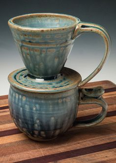 Pour over coffee cup set  coffee drip cone by WortmanCoffeePots