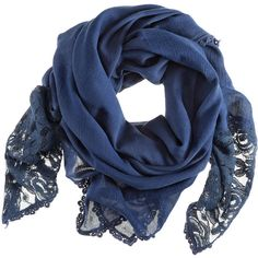 H&M Shawl (750 RUB) ❤ liked on Polyvore featuring accessories, scarves, blue, accessories - scarves, women, lace scarves, blue scarves, woven scarves, lace shawl and blue shawl