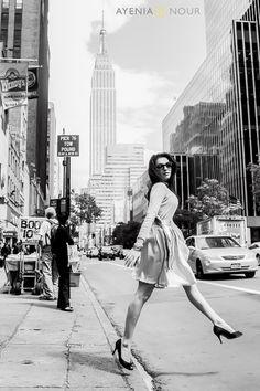 NYC Chic #engagmentshoot  Ayenia Nour Photography