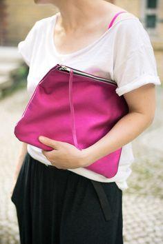 Pink Oversized clutch - Patkas_ - Kopertówki