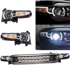 For Toyota FJ Cruiser 07-14 Xenon HID Bulb Headlights Assembly+Grille LED Light…