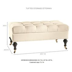 Castered Tufted Storage Ottoman $399-609