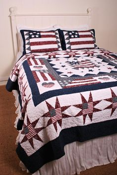 Great America Americana Flag Oversize Quilt