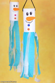Snowman Windsock Toilet Paper Roll Craft - Easy Peasy and Fun