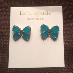 NWT! Kate Spade Bow Earrings! Originally received these as a birthday present but never got around to actually wearing them. These earring are adorable and deserve a new, loving home. kate spade Jewelry Earrings