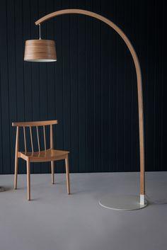 Modern and Unique Floor Lamps UK Unique Floor Lamps, Wooden Floor Lamps, Wooden Lampshade, Arc Floor Lamps, Wood Lamps, Wooden Flooring, Wood Floor, Eco Design, Arc Lamp