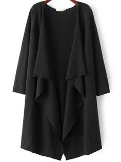 SheIn offers Black Long Sleeve Loose Casual Cardigan & more to fit your fashionable needs. Long Knit Cardigan, Loose Sweater, Sweater Coats, Black Cardigan, Cocoon Cardigan, Photos Of Dresses, Loose Fitting Tops, Loose Tops, Long Sleeve Tops