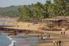 Anjuna Beach in Goa (Indian Ocean Island) India