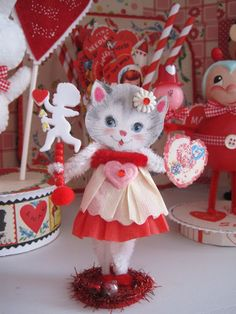 Sweet Valentine Kitty craft from Creative Breathing