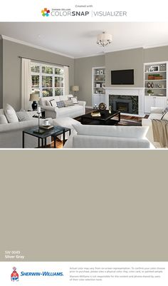 I found this color with ColorSnap® Visualizer for iPhone by Sherwin-Williams: Silver Gray (SW 0049).