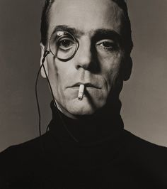 Michel Comte, Jeremy Irons with monocle, London, 1990
