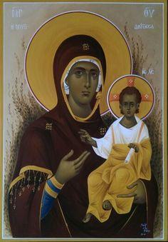 Παναγια η Μυρτιδιωτισσα Religious Icons, Religious Art, Best Icons, Byzantine Icons, Orthodox Icons, Blessed Mother, Sacred Art, Christian Art, Our Lady