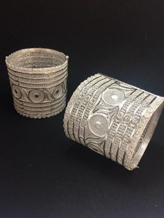 Odissi Dance Bangles in Silver Filigree - Authentic Dance Costume Jewellery handcrafted in Cuttack