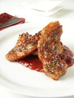 ΠΑΝΤΣΕΤΑ ΜΕ ΣΩΣ ΜΠΑΡΜΠΕΚΙΟΥ Greek Cooking, Greek Recipes, Soul Food, Main Dishes, French Toast, Bacon, Deserts, Meat, Chicken