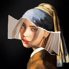 Girl with a Pearl Earring Collage Billie Eilish (Fail .- Mädchen mit einer Perlen-Earring-Collage Billie Eilish (FailunFailunMefailun) Girl with a Pearl Earring Collage Billie Eilish Billie Eilish, Photomontage, Aesthetic Iphone Wallpaper, Aesthetic Wallpapers, Artistic Wallpaper, Art Du Collage, Art Collages, Love Collage, Pablo Escobar