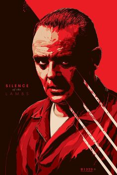 """""""Silence of the Lambs"""" by Ken Taylor. 24″ x 36″ Screenprint. Ed of 400 S/N."""
