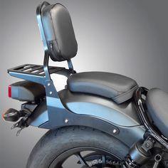 Respaldo con portaquipajes para Honda Rebel 2017-. Incluye todo lo necesario para su instalación, también puedes elegir color y altura