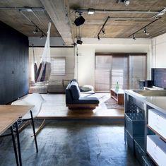 kannuさんの、メンズ部屋,ハンモック,土間,部屋全体,のお部屋写真