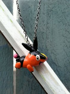 Pokemon Necklace Tepig Polymer Clay Charm by PokemonCharms on Etsy, $15.00