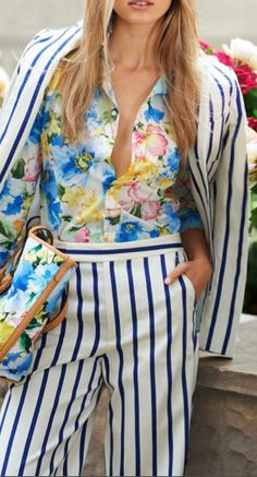 Florals and stripes from Polo Ralph Lauren make a sophisticated statement for the season