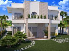 Criação de fachada de uma casa em 3D para Cerâmica Porto Ferreira S/A.