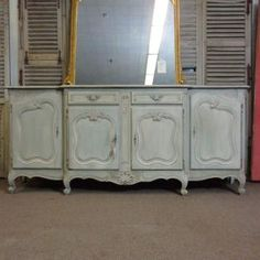 French Vintage Provencal Style Buffet