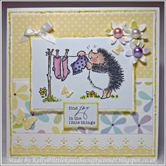 Find joy in the little things - a great sentiment for many stamps ;)
