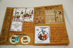 Middle School Egypt Study - example of notebooking in middle school