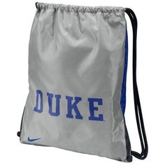Nike Duke Blue Devils Gray-Duke Blue Home & Away Gym Bag - #FanaticsWishList
