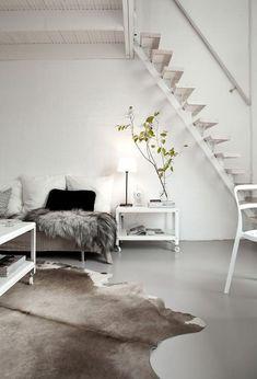Interior inspiration | Natural | White | Beige | Light colours | Scandinavian | Fur | More on Fashionchick