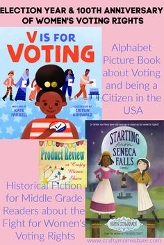 Review of books to help learn about election, citizenship and the fight for women's suffrage Women Right To Vote, Elizabeth Cady Stanton, Weird But True, Historical Fiction Novels, Good Citizen, Forgetting The Past, Sixth Grade