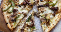 Pizza med biff og paprika (og hvit saus)