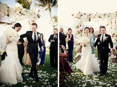 gorgeous orchid wedding arch