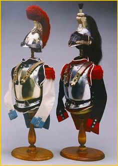 miniature French cavalry armour