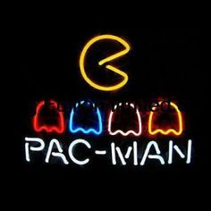 17-x14-PAC-MAN-LOGO-REAL-GLASS-NEON-BEER-BAR-PUB-GAMEROOM-LIGHT-SIGN-T94-1