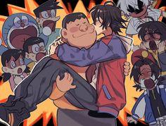 Hypnosis mic x Doraemon Anime Chibi, Anime Manga, Anime Art, Doraemon Comics, Math Graphic Organizers, Anime Crossover, Rap Battle, Manhwa, Division