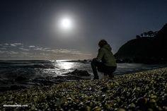 #SuperlunaEspanola Nuestra foto de una luna extraordinaria reflejada en la playa #Ribadesella #Asturias