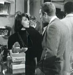 "Rocky Papasano (Steve McQueen): ""You look so - what am I gonna tell 'ya? You look like a woman."" // Angie Rossini (Natalie Wood): ""How can you manage to make even a compliment sound like a slap in the face?"" -- from Love with the Proper Stranger (1963) directed by Robert Mulligan"