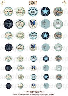 Digital Kreise - digitale Bilder Cabochon Vorlage für Anhänger - Cabochon Bilder - Cabochon Vorlagen  Artikelbeschreibung: 4 Größe digitale Kreise (30, 25, 20, 18 mm) - Seitengröße: A4...