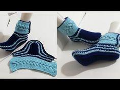 Knitting Stiches, Knitting Socks, Baby Knitting, Fair Isle Knitting, Knitted Slippers, Slipper Socks, Baby Sweater Patterns, Knitting Patterns, Crochet Slipper Pattern
