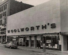 Did you ever shop here?  My grandmother and I rode the bus to Woolworth's to buy her sewing notions when I was a little girl.  Had lunch at the soda fountain every time we went.