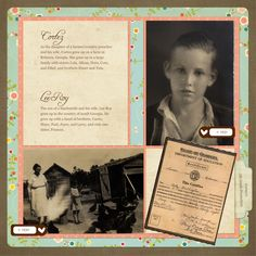 Lovely Family Tree Scrapbook Page Layout