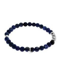 Men\'s Round Sodalite Beaded Bracelet by Tateossian at Neiman Marcus.