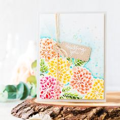 Watercolored flowers to brighten your day. Missing you card. Find out more by clicking on the following link: http://limedoodledesign.com/2016/06/flowers-to-brighten-your-day/
